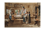 Grace before the Meal Giclee Print by Lorenzo Quaglio