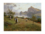 Harvesters by the Chiemsee, 1912 Giclee Print by Joseph Wopfner