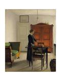 Ida in an Interior, 1897 Reproduction procédé giclée par Vilhelm Hammershoi
