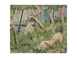 Two Girls in the Woods Giclee Print by Otto Mueller