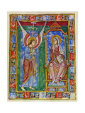 Albani Psalter, Annunciation, 1121-1146 Giclee Print by  Romanesque