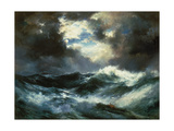 Shipwreck in Stormy Sea at Night Giclee Print by Thomas Moran