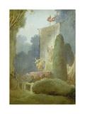 The Festival in the Park of St. Cloud. Detail: a Balladeer, 1778-80 Reproduction procédé giclée par Jean-Honoré Fragonard