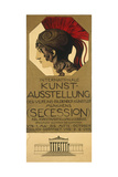 Poster for an Exhibition of Secessionist Art, Ca. 1898 Prints by Franz von Stuck