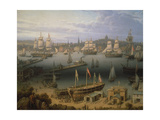 Boston Harbour, 1843 Giclee Print by Robert Salmon