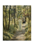 Marie, the Artist's Wife, in the Garden, 1895 Giclee Print by Peter Severin Kroyer