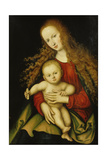 Madonna with Child, 1529 Giclee Print by Lucas Cranach the Elder