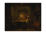 Inn Interior by Candle Light Giclee Print by Pieter Huys