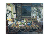 An Interior with a Still Life, the Parlour at Sandalstrand, 1911 Giclee Print by Nikolai Astrup