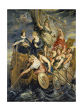 Medici-Cycle: Louis XIII Reaching the Age of Consent Giclee Print by Peter Paul Rubens