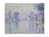 The Seine Near Samois, C. 1900 Giclee Print by Paul Signac