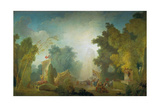 The Festival in the Park of St, Cloud, 1778-80 Giclée-Druck von Jean-Honoré Fragonard