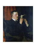 Portrait of the Poet Martin Greif, 1876 Giclee Print by Wilhelm Trübner