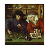 The Money Lender and His Wife, 1514 Posters by Rachel Ruysch