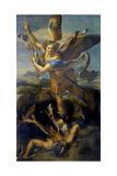 Der Hl, Michael Besiegt Den Teufel, 1518 Giclee Print by  Raffael