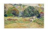 Peasant Garden (Landscape on Tahiti), 1892 ジクレープリント : ポール・ゴーギャン