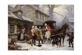 Home for Christmas Giclee Print by Jean Léon Gérôme Ferris