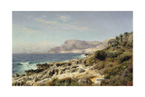 Coastline Near Monte Carlo, 1907 Giclee Print by Peder Moensted