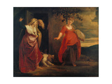 The Expulsion of Hagar Giclee Print by Peter Paul Rubens
