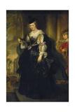 Portrait of Helene Fourment Impression giclée par Peter Paul Rubens