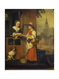 The Vegetable Seller, Late 1650s Giclee Print by Nicolas André Monsiau