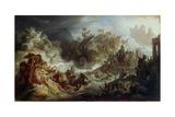 The Naval Battle of Salamis, C. 1858 Giclee Print by Wilhelm Von Kaulbach