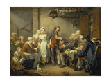 The Village Agreement Poster by Jean Baptiste Greuze
