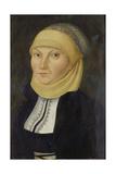 Bildnis Der Katharina Von Bora, Gemahlin Martin Luthers Giclée-tryk af Lucas Cranach the Elder