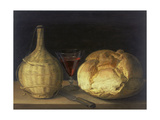 Still Life with Demijohn, Goblet and Bread, 1630-35 Giclee Print by Sebastiano del Piombo