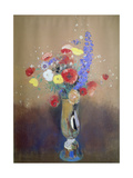 Wild Flowers in a Long-Necked Vase Poster by Odilon Redon