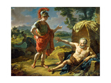 Alexander and Diogenes, 1818 Giclee Print by Nicolas Antoine Taunay