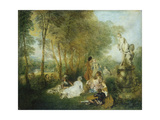 Feast of Love, C. 1717 Prints by Jean Antoine Watteau