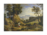 Landscape Near Olevano with Rainbow, 1823-24 Giclee Print by Joseph Anton Koch