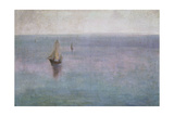 Sea Landscape with Sailing Boats, C. 1904 Giclee Print by Wladyslaw Slewinski