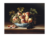 Peaches and Grapes in a Blue and White Chinese Porcelain Bowl, 1634 Giclee Print by Louise Moillon