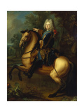 King August III, of Poland as Prince on Horse, C. 1718 Giclee Print by Louis Silvestre