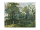 Deer Hunt in Marshy Undergrowth Giclee Print by Niederländischer Meister