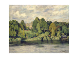 Villa on a Markish Lake, C. 1906 Giclee Print by Walter Leistikow