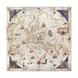 Portolan Chart of the World, Venice, 1519 Giclee Print