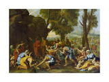 Moses Striking Water from the Rock Giclee Print by Nicolas Poussin