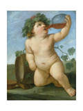 Drinking Bacchus Portrayed as a Boy, C. 1623 Print by Guido Reni