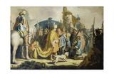 David with the Head of Goliath, 1627 Prints by  Rembrandt van Rijn