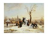 The Village Snowman, 1853 Giclee Print by Wilhelm Alexander Meyerheim