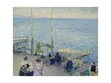 The Cafe Terrace at the Lake Geneva, 1908 Giclee Print by Nikolaj Klodt