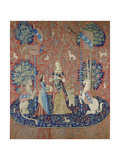 The Lady and the Unicorn: Smell, Between 1484 and 1500 Impression giclée