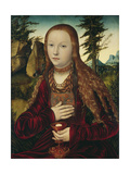 St. Barbara on the Grassy Bank Giclée-Druck von Lucas Cranach the Elder