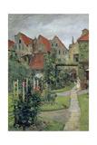 Urban Garden in Luebeck (Johannisstrasse 64), 1891 Giclee Print by Hermann Linde