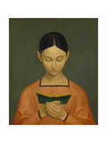 Reading Girl, C. 1828 Giclee Print by Gustav Adolph Hennig