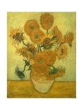 Fourteen Sunflowers in a Vase, 1889 Reproduction procédé giclée par Vincent van Gogh