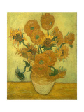 Fourteen Sunflowers in a Vase, 1889 Giclee Print by Vincent van Gogh